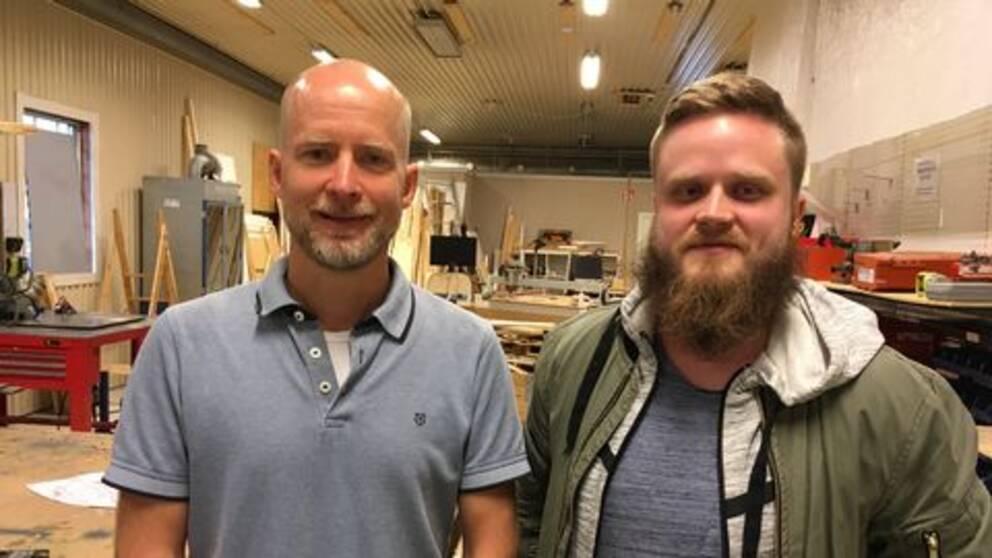 Mattias Ranbro och Matthias Nilsson håller till i Makers space i Skövde.