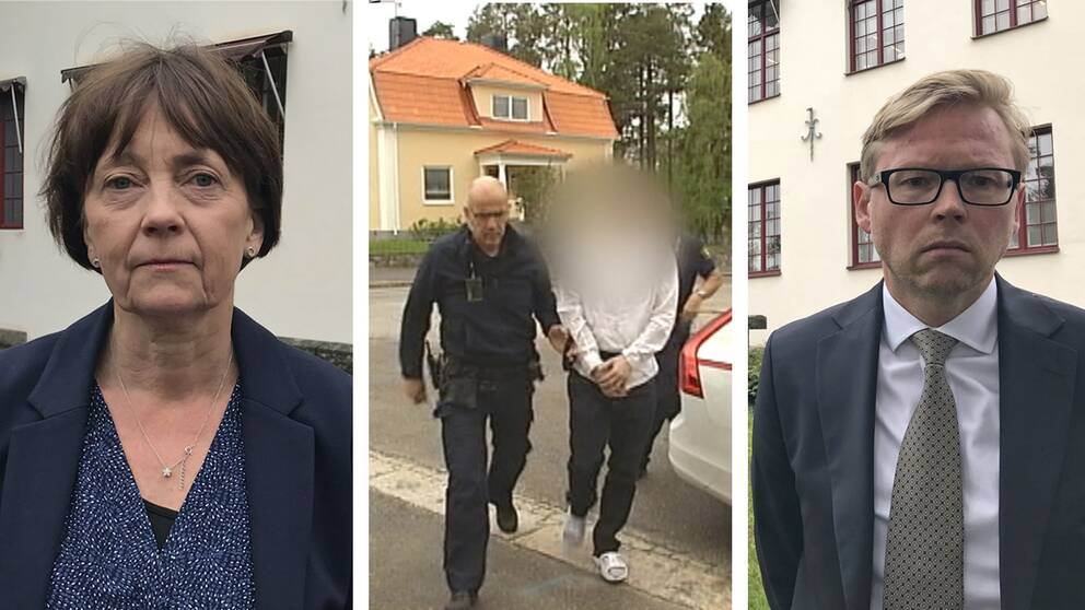 Birgitta Fernlud, åklagare och Per Wiesel, försvarsadvokat.