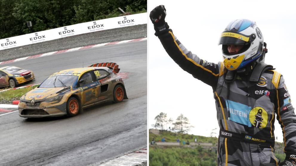 Anton Marklund tog karriärens första seger i rallycross-VM i Hell. Landsmannen Kevin Hansen blev tvåa.