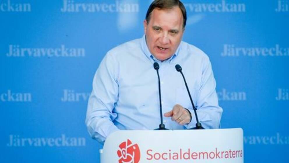 Tal av Socialdemokraternas partiledare Stefan Löfven.