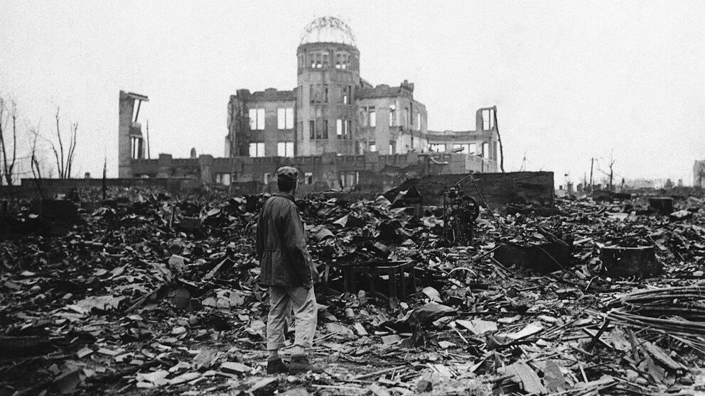 Hiroshima några veckor efter att den amerikanska atombomben släpptes 1945.