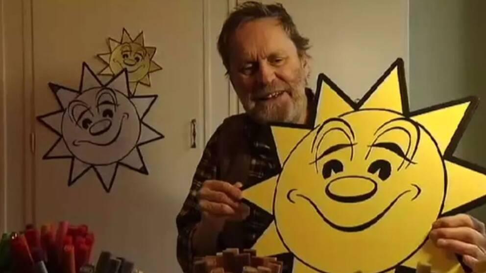 Sverker Lund var tecknaren bakom den klassiska kortfilm som visar solens upp och nedgång i SVT.