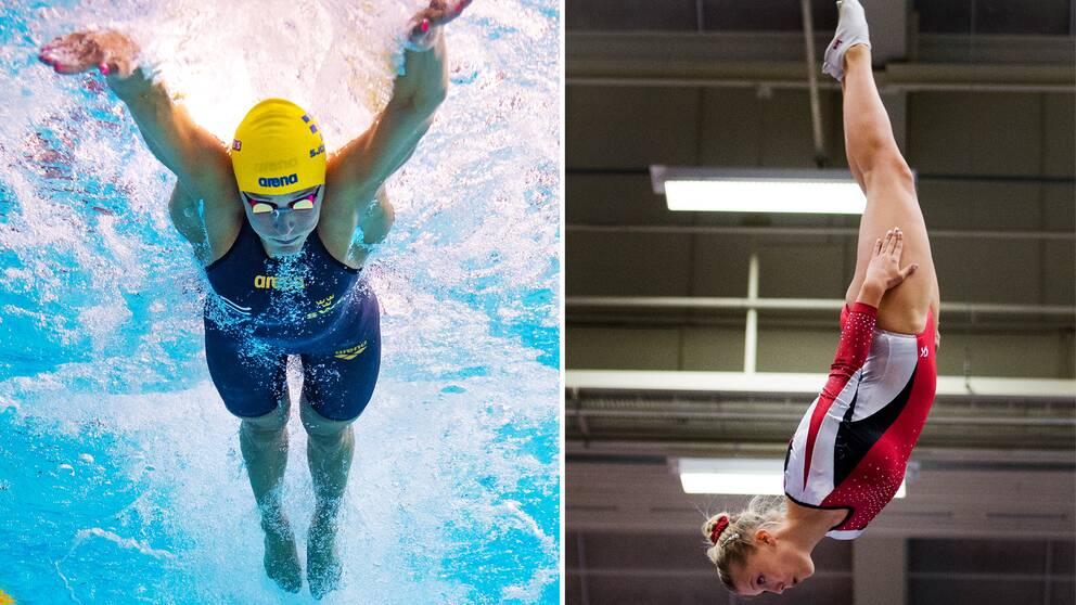 Sarah Sjöström och Lina Sjöberg tävlar i Malmö.