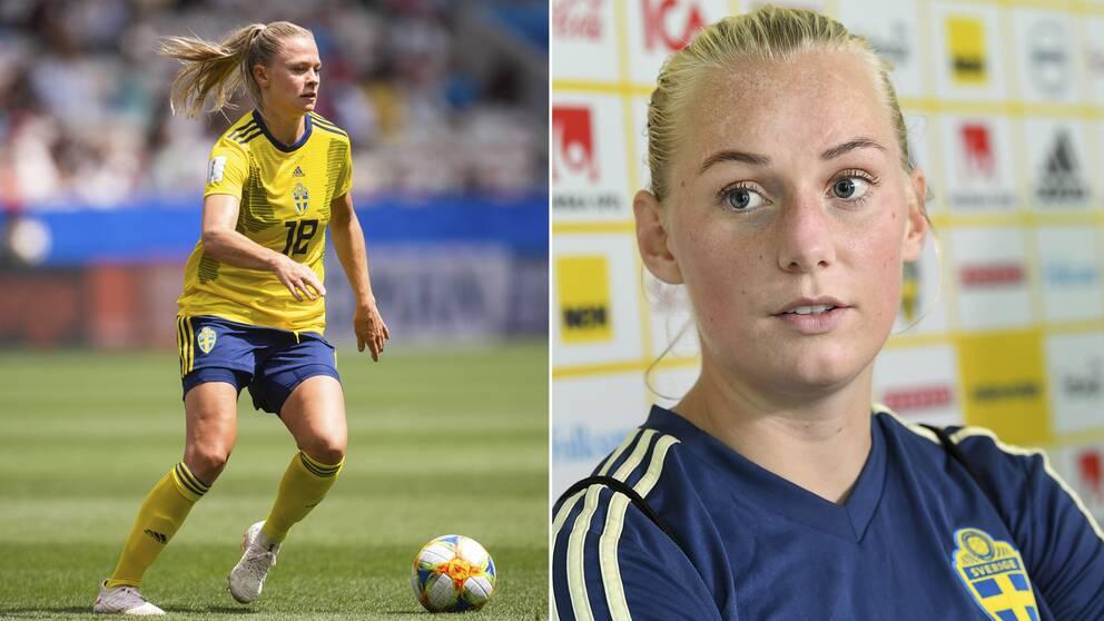 Fridolina Rolfö och Stina Blackstenius.