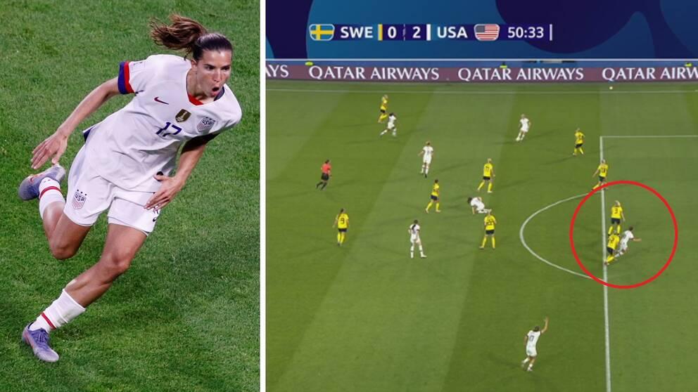 USA:s andra mål mot Sverige blev omdiskuterat men godkänt efter VAR-granskning av en möjlig offside.