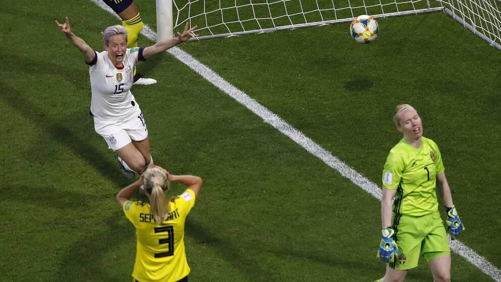 USA vann mot Sverige.