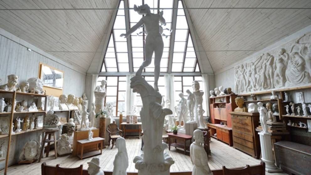 Bild från skulptören Carl Eldhs ateljémuseum.