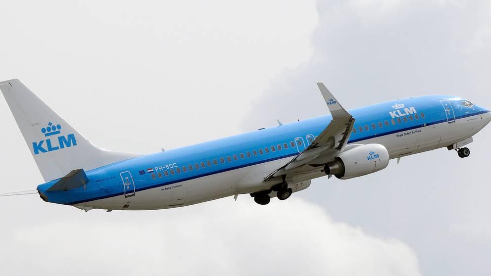 Nederländska KLM undviker att flyga över Hormuzsundet av säkerhetsskäl. Arkivbild.