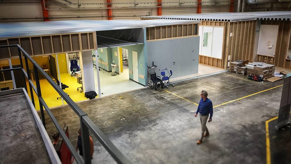 Testrum för sjukhusbygget i Malmö