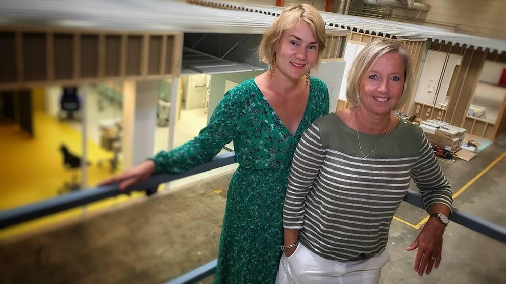 Lokalplanerarna Astrid Hansson och Kirsti Marttila Gaard