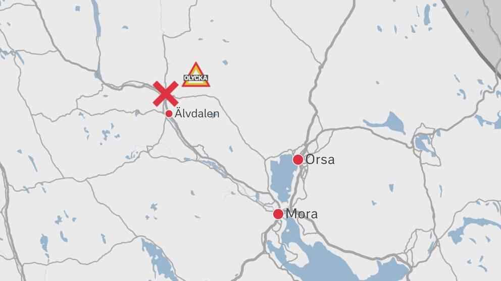 grafik-karta med ort och plats markerad