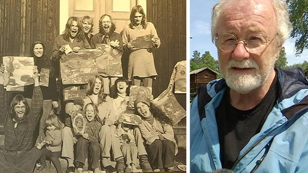 Peter Johanzson, ordförande i Delsbo hembygdsföreningen ansvarar för utställningen, han kom själv till delsbo som gröna vågare för cirka 45 år sedan.