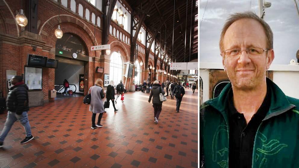 Michael Aronssons London-resa med barnen slutade med ett missat tåg på Hovedbangården i Köpenhamn, en lördagsnatt i april