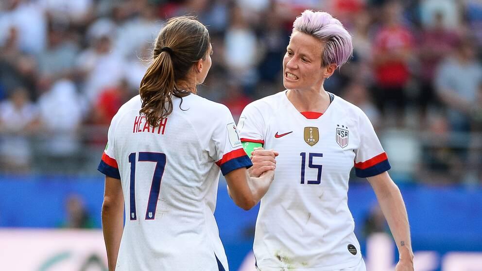 USA mot Frankrike i kvartsfinalen blir en folkfest