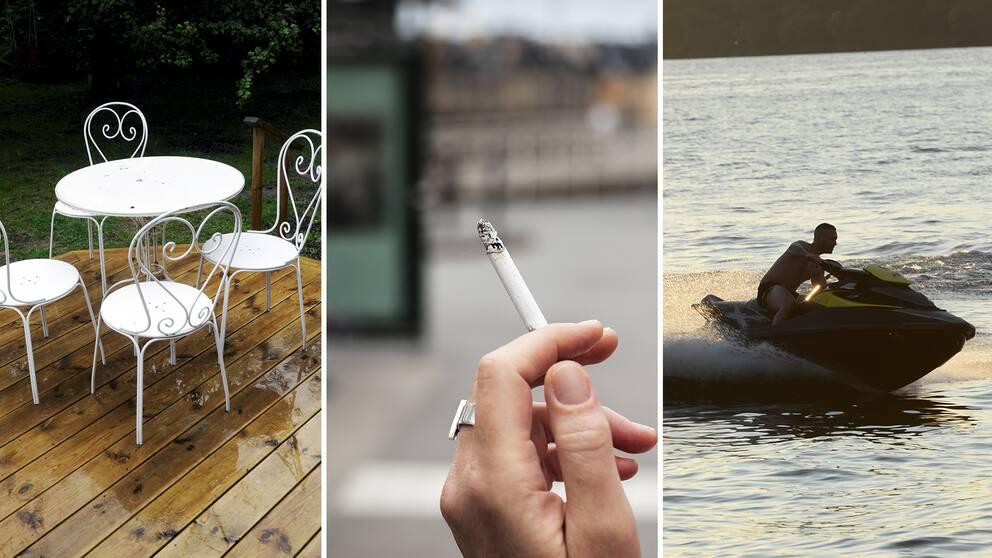 Från och med den 1 juli förändras lagen gällande bland annat bygglov för altaner, rökning och vattenskoterkörning.