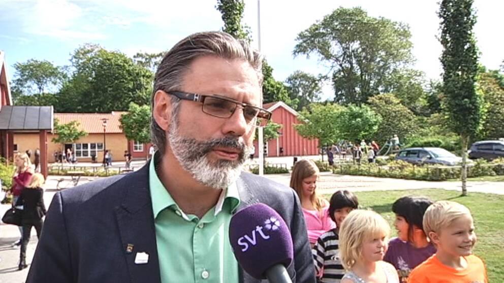 Christer Mattsson besökte Sölvesborg och talade om projektet.