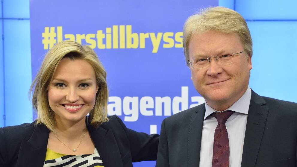 KD:s partiledare Ebba Busch Thor och riksdagsledamot Lars Adaktusson.