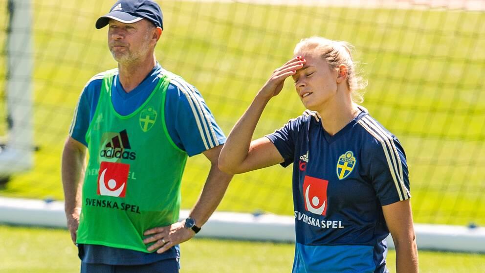 Peter Gerhardsson och Fridolina Rolfö.