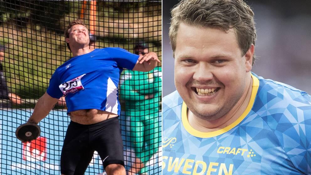 Daniel Ståhl slog svenskt rekord. Arkivbild.
