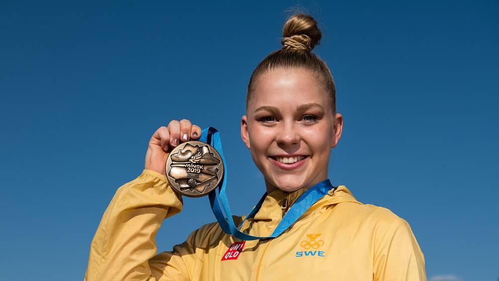 Jessica Castles tog brons i Europeiska Spelen i Minsk.