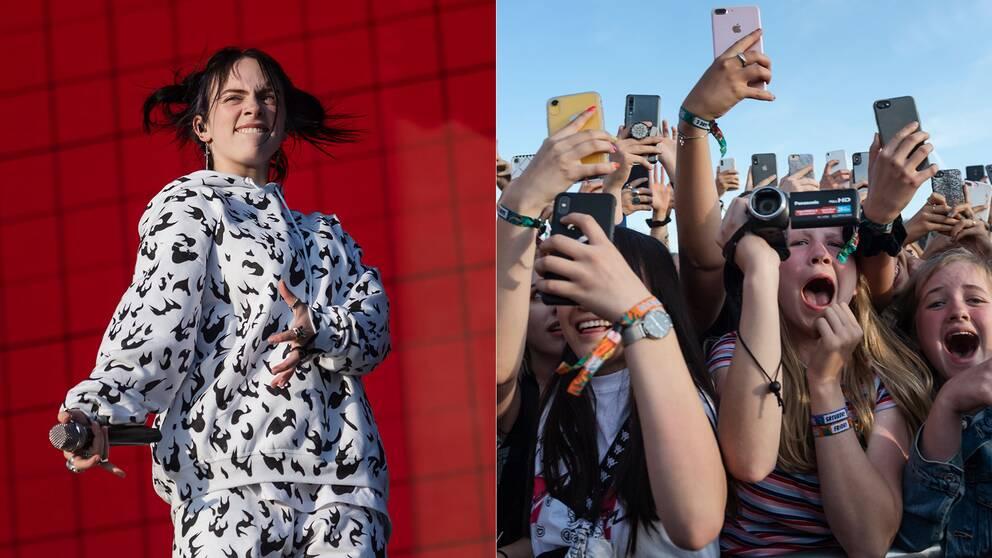 17-åriga stjärnskottet Billie Eilish lockade en enorm publik under fredagens öppning av Lollapalooza-festivalen.