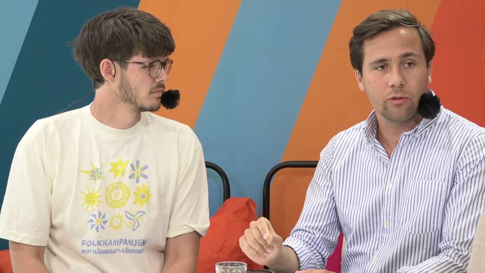 Klimatdebatt mellan ledarna för Grön ungdom och Moderata ungdomsförbundet.
