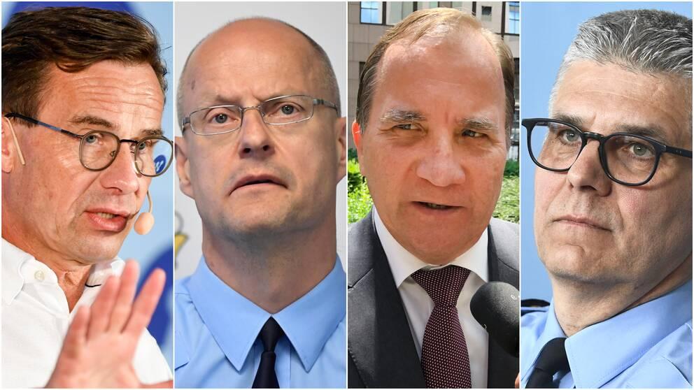 Ulf Kristersson, Mats Löfving, Stefan Löfven och Anders Thornberg.