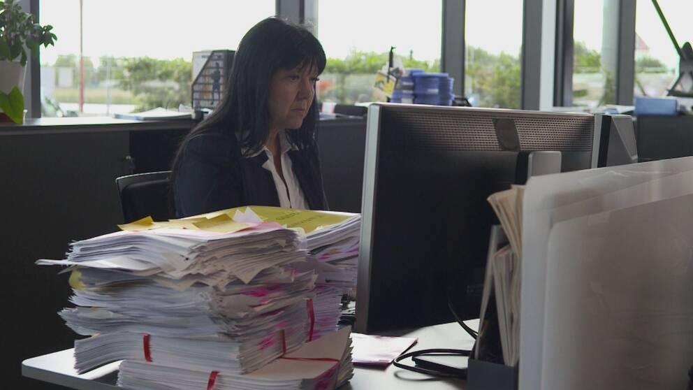 Reporter Sophia Djiobaridis på Uppdrag gransknings redaktion.