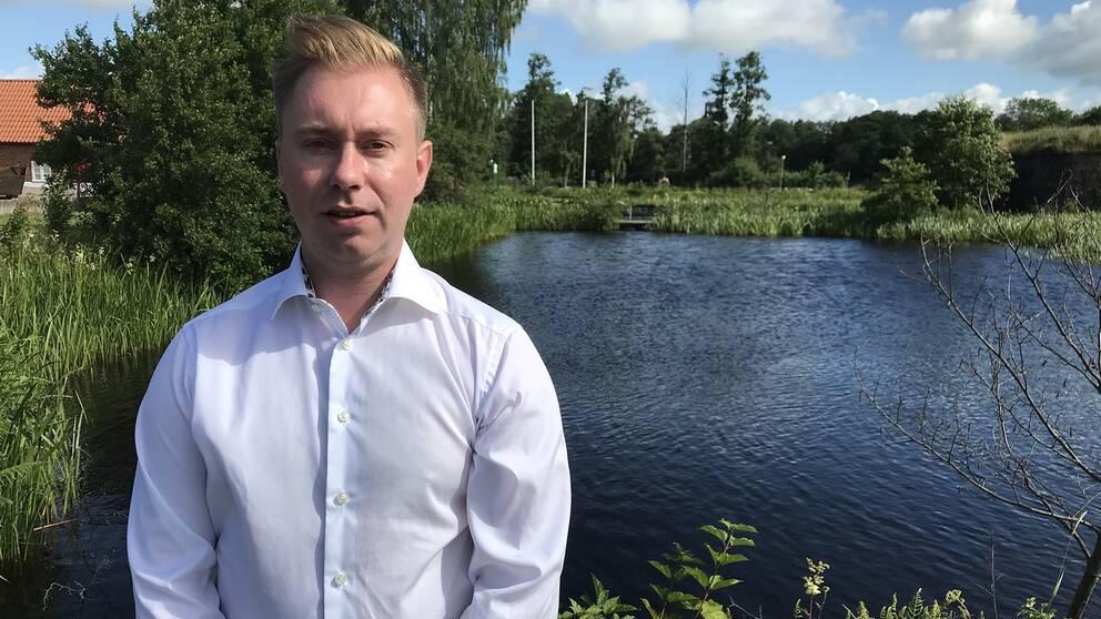 Henrik Jatkola, kraftverkschef på Statkraft i Laholm.