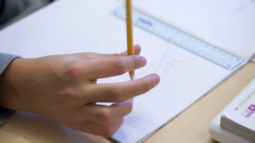 Penna i hand