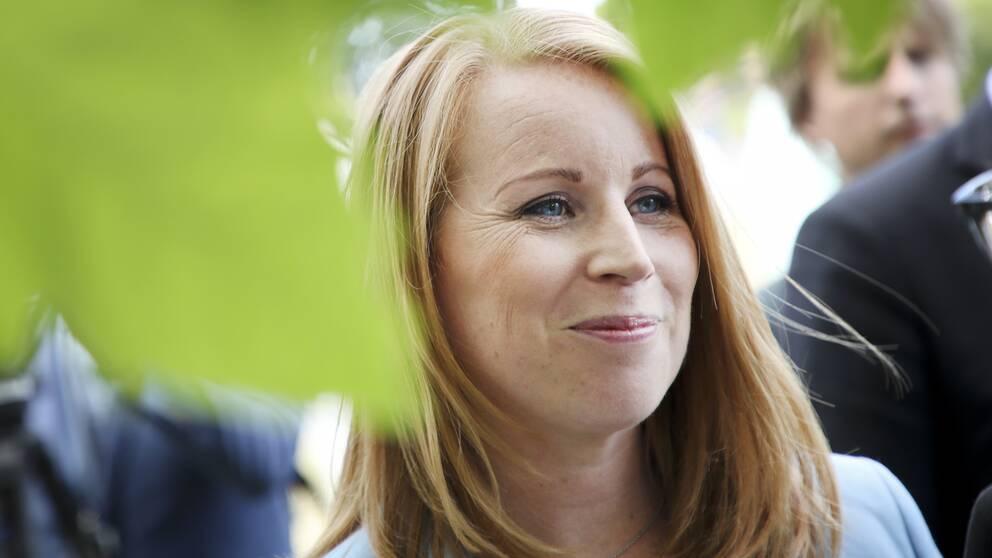 Annie Lööf, partiledare Centern, i Almedalen 2019.