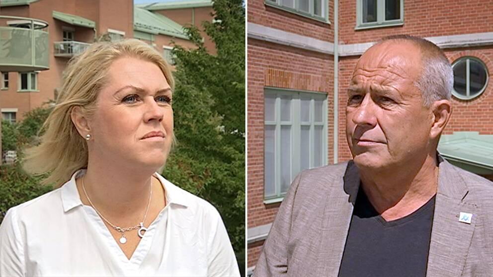 Socialminister Lena Hallengren (S) och Mats-Ola Rödén (L), ordförande för hälso- och sjukvårdsnämnden Region Gotland.