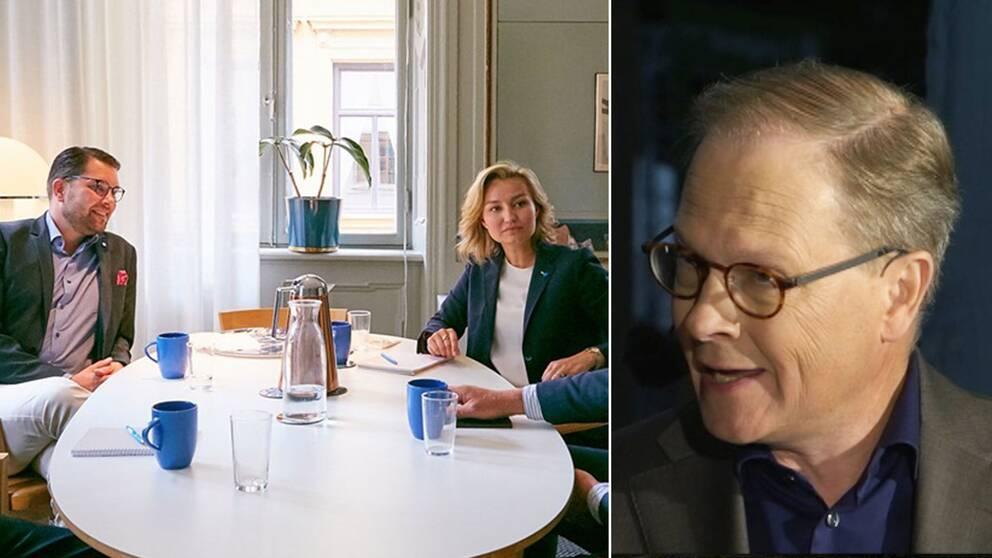 Jimmie Åkesson och Ebba Busch Thor på lunchen, samt Mats Knutson