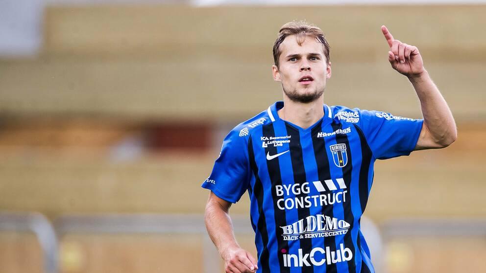 Sam Lundholm satte kvitteringmålet på straff i matchen mot Östersund