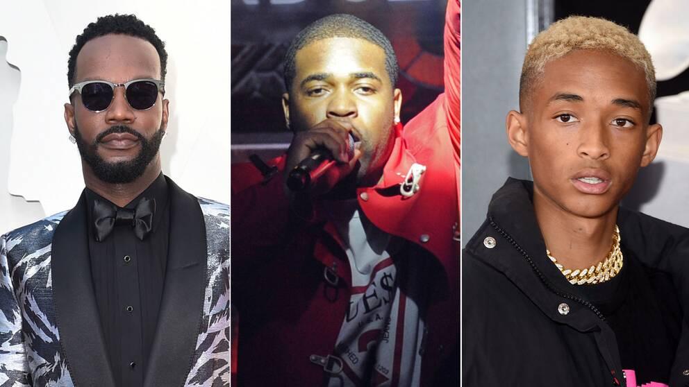 Juicy J, Asap Ferg och Jaden Smith är några av artisterna som reagerar på att Asap Rocky sitter häktad i Sverige.