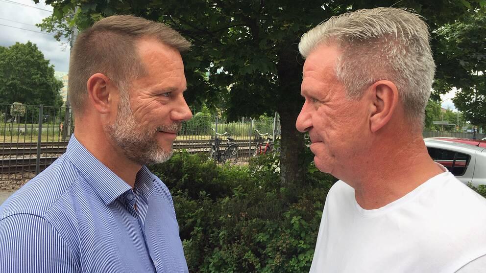 Hör politikerna Andreas Svahn (S) och Peter Pedersen (V) debattera om förlossningen i Karlskoga.