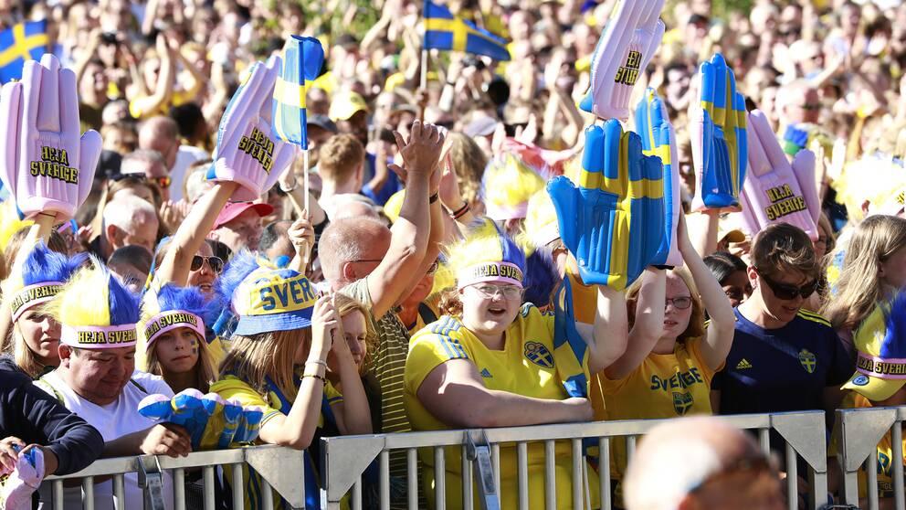 Tusentals fans var på plats på Götaplatsen.