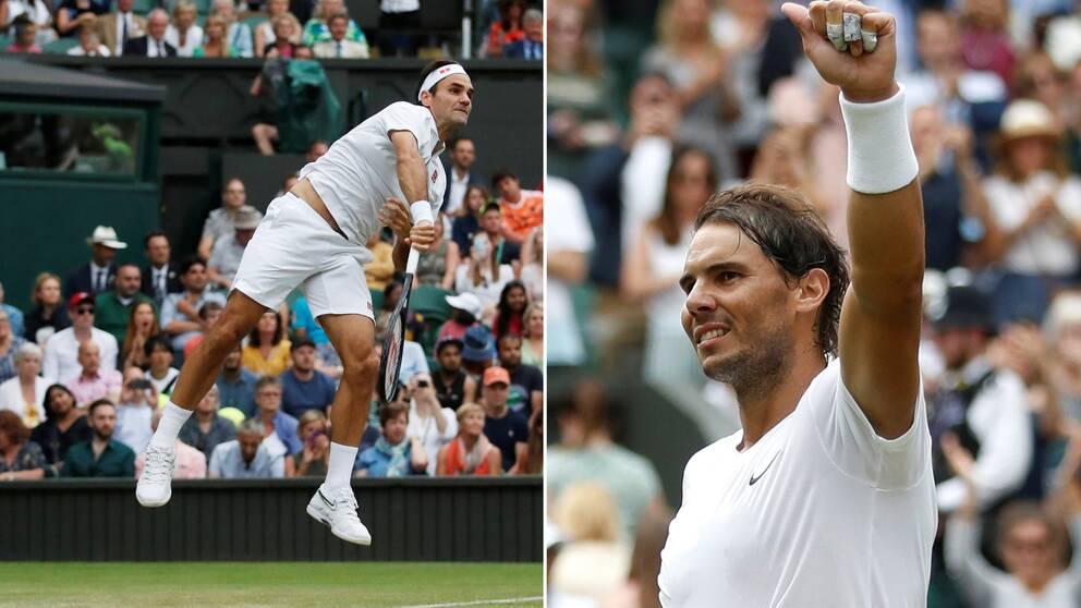 Roger Federer och Rafael Nadal.