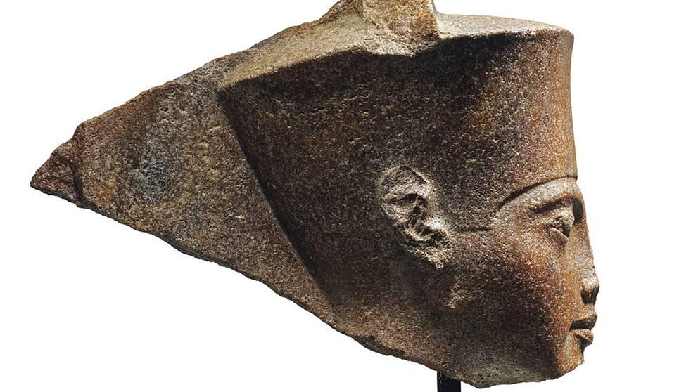 Tutankhamun-huvudet i brons såldes på autkionshuset Christie's i London förra veckan.