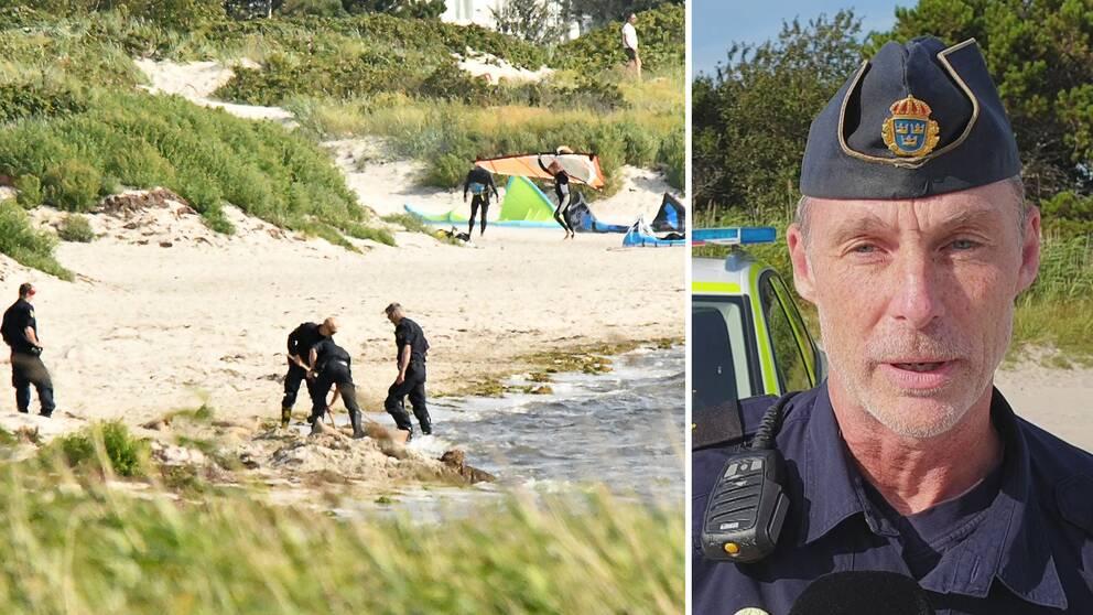 Det misstänkta föremålet som hittades på stranden i Lomma var en granat. Bombgruppen sprängde granaten på plats, berättar Patric Thelander, yttre befäl.