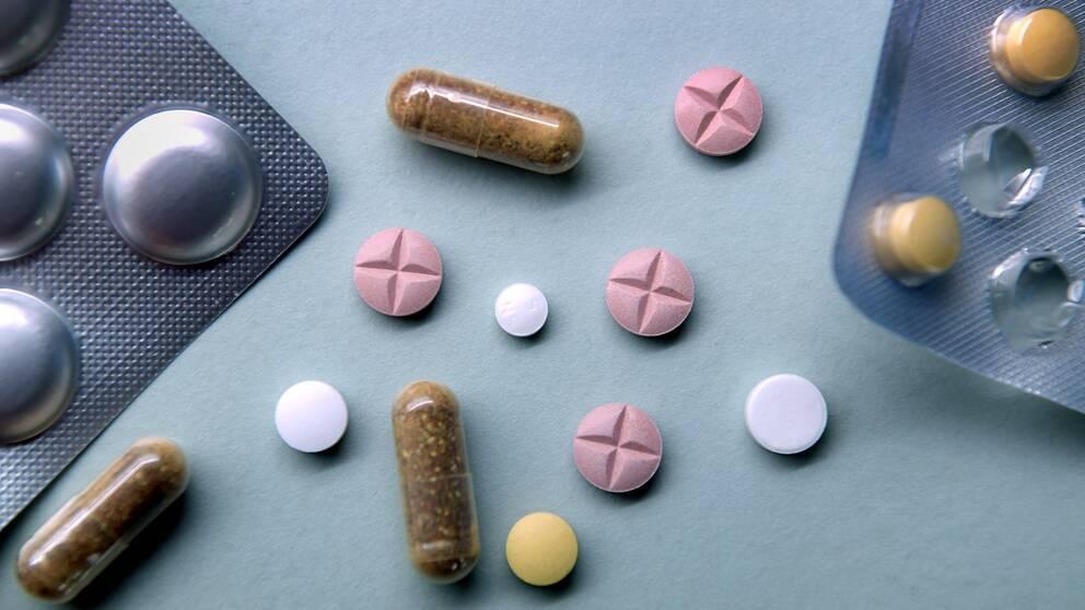 Läkemedelstabletter.