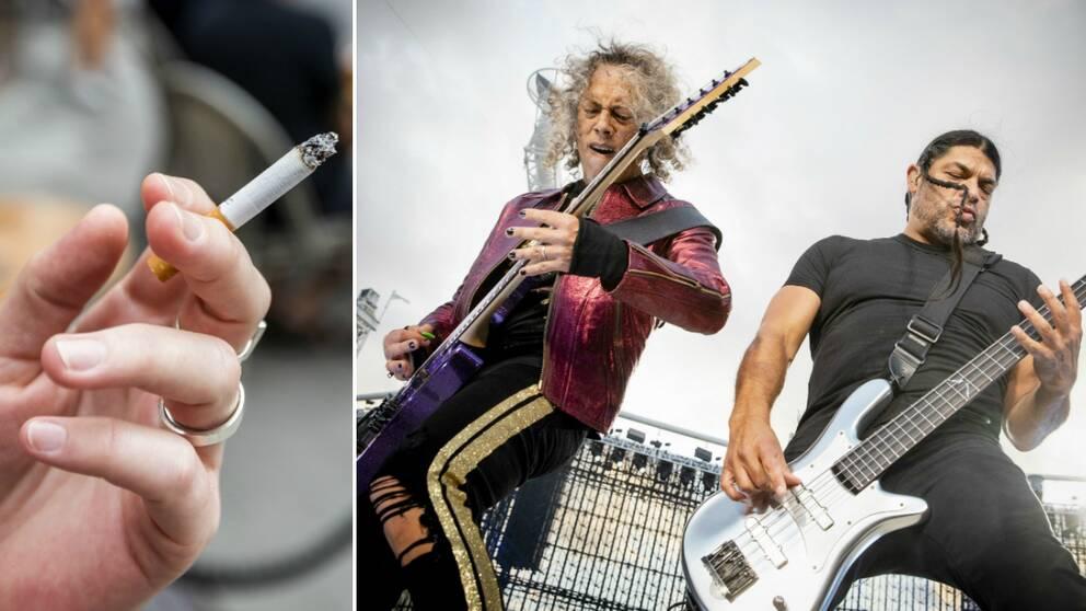 Kravet efter att vakter struntade i rökförbudet på Metallica-konsert