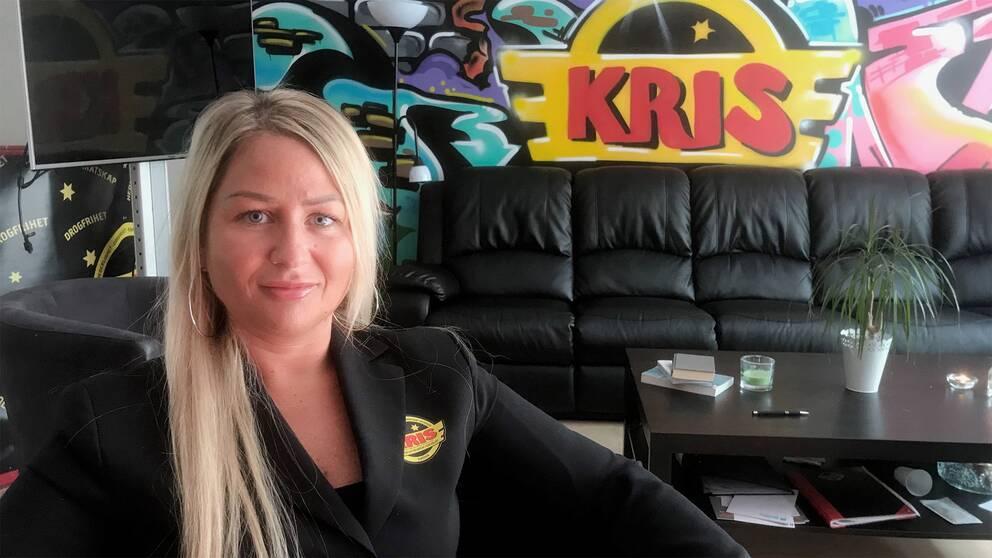 Sara Lötbom, verksamhetsledare på KRIS Stockholm.