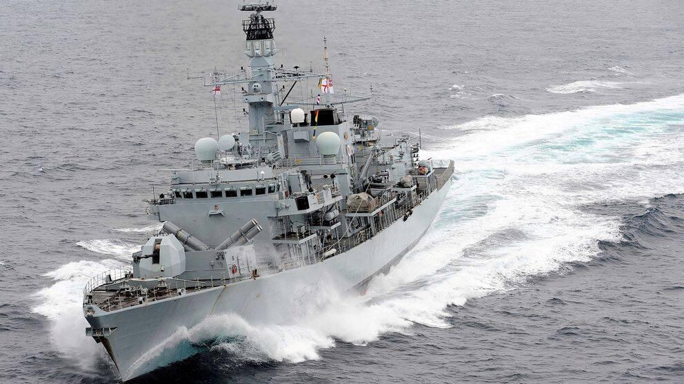 Brittiska frigatten HMS Montrose. Arkivbild.