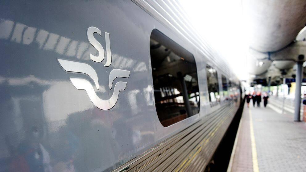 Det är stopp i tågtrafiken till och från Umeå Central och Umeå östra. Två SJ-tåg är berörda. Genrebild.