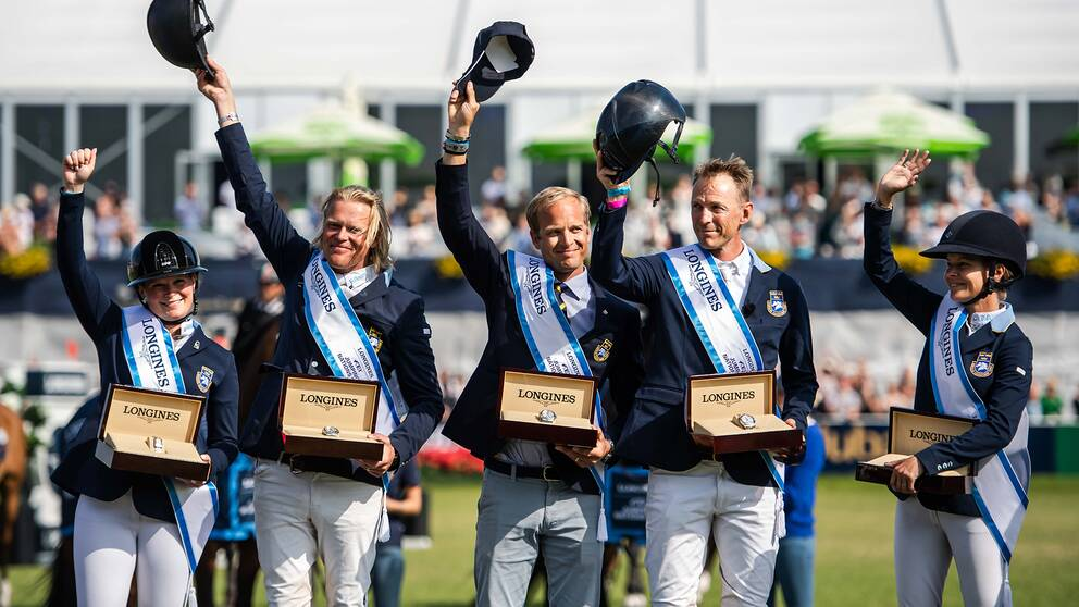Sverige jublar efter seger i Nations Cup.