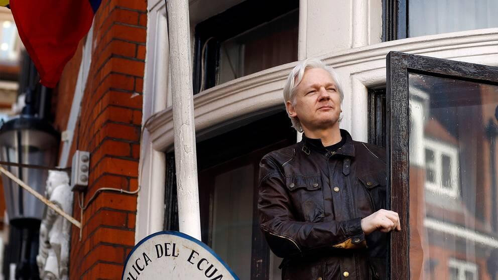 Enligt dokument som CNN tagit del av påverkade Wikileaks-grundaren Julian Assange presidentvalet 2016 från den ecuadorianska ambassaden i London. Arkivbild.