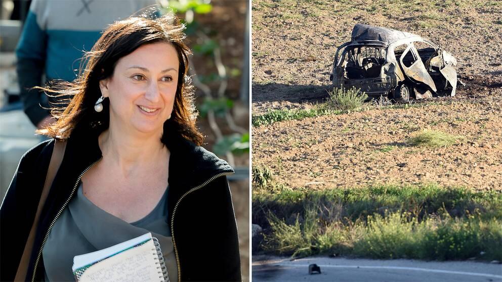 Den undersökande journalisten Daphne Caruana Galizia dog när en bomb exploderade i hennes bil utanför hennes hem i Mosta, Malta.