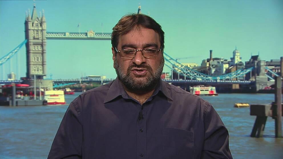 Hanif Qadir, grundare av organisationen Active Change Foundation i London.