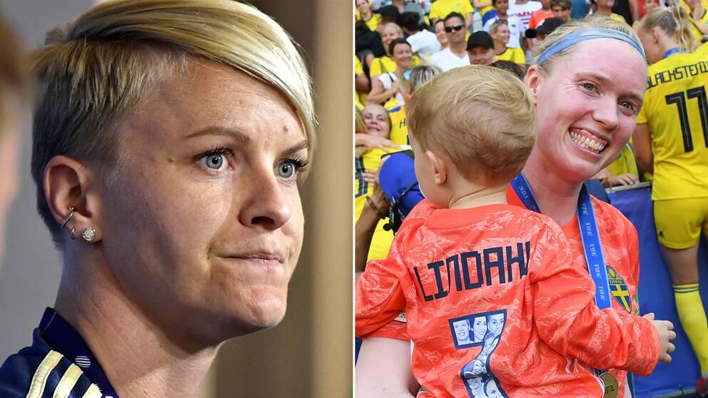 Nilla Fischer och Hedvig Lindahl